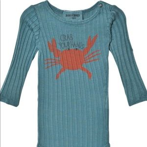 """6-12m NWT Bobo Choses """"Crab Your Hands"""" Onesie"""